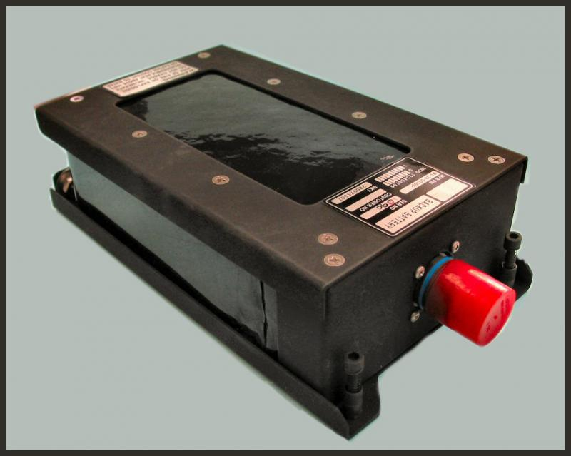 The UAV's emergency recovery system is powered by a 32 V/480 W custom battery pack using 96 AA-size lithium metal oxide batteries inside a metal enclosure.