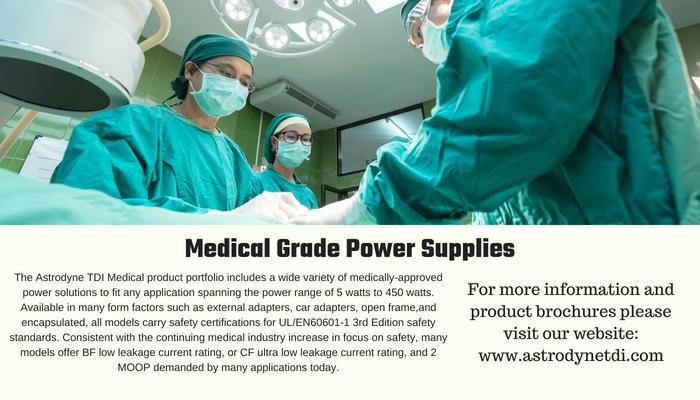 Astrodyne medical grade power supplies