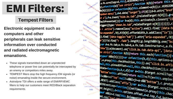 Secure EMI Filters - Astrodyne Tempest Filters