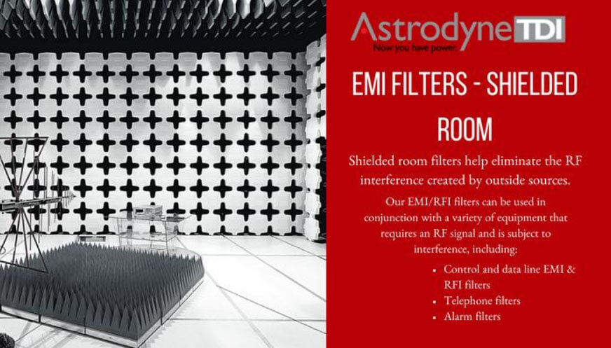 shielded room filters