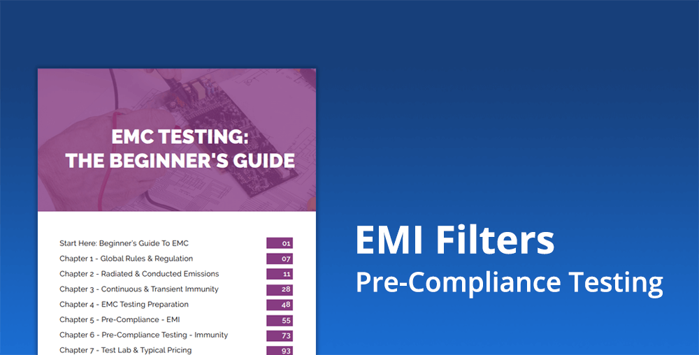 Pre-compliance testing of emi filters