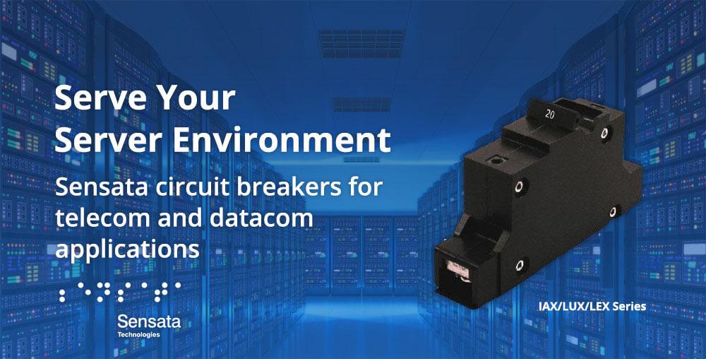 Compact datacenter rack power circuit breaker