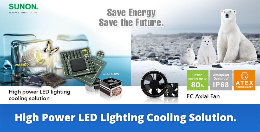 sunon high power led cooling fan