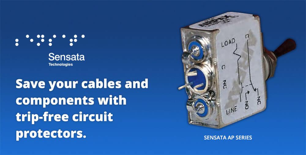 Sensata trip free circuit protector