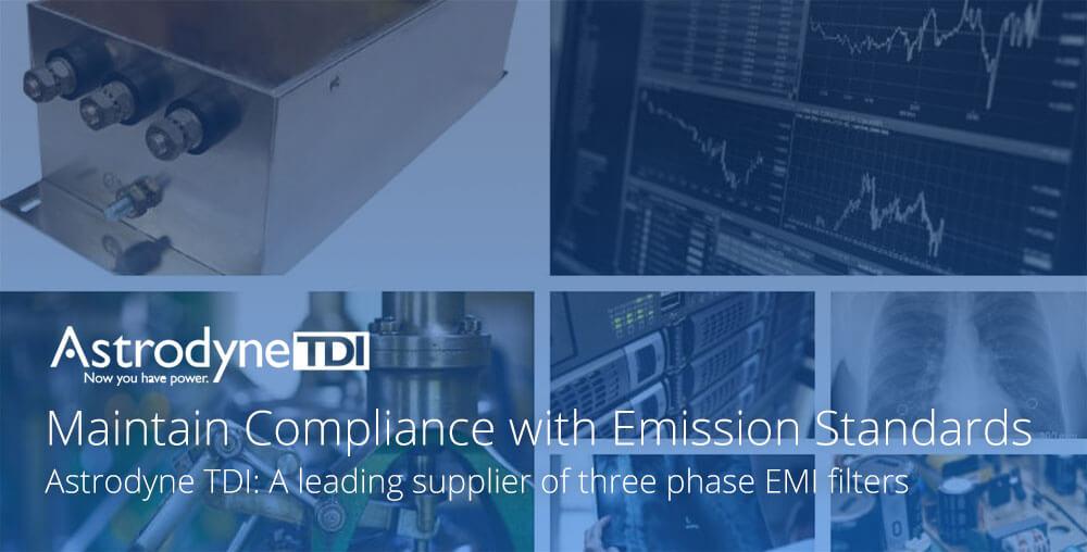 Three phase EMI filters by Astrodyne TDI