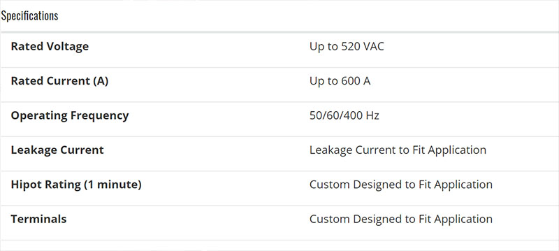 Custom Astrodyne TDI EMI Filter Specs