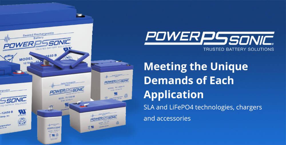 Power Sonic SLA and LiFePO4 batteries