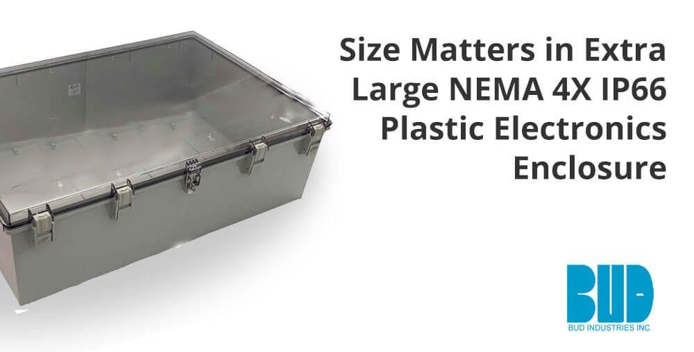 extra large nema4x plastic electronics enclosure