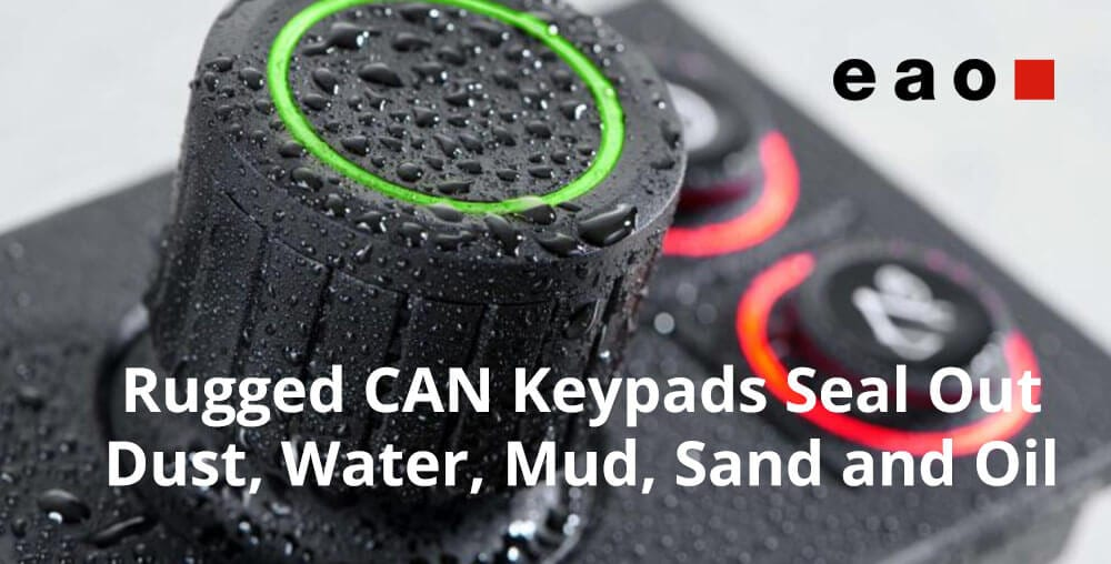 rugged CAN keypads by EAO