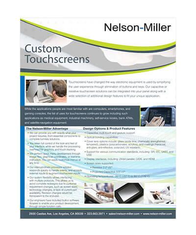 Nelson Miller touchscreen guide