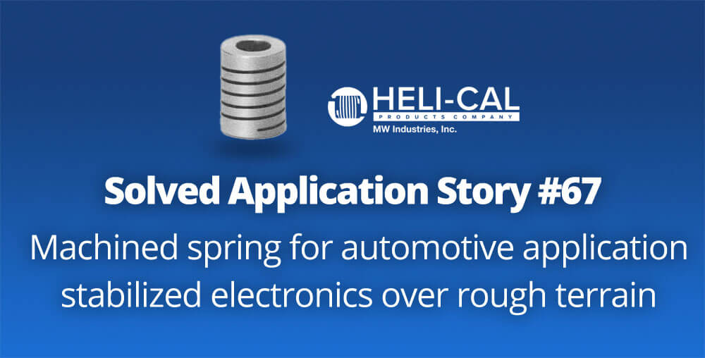automotive application case study using machined spring for stability of electronics
